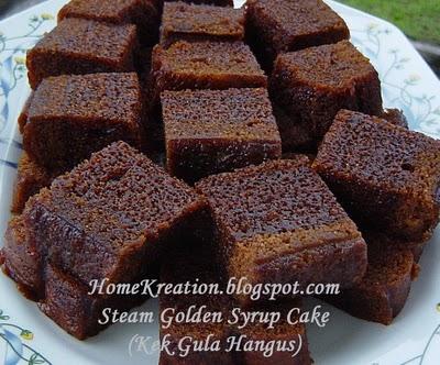 Inilah rupa kek gula hangus. Tapi saya guna gambar dari blog orang ...